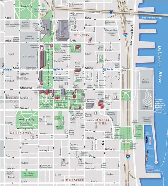 City Map Sample – Tourist Map of Philadelphia